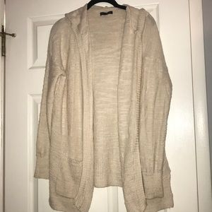 American Eagle open hooded cardigan